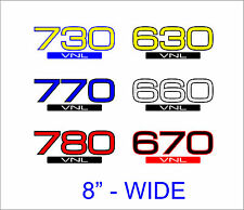 2pcs VOLVO 2-colors VNL 780 770 730 670 660 630 Semi Truck Vinyl Decal Graphic