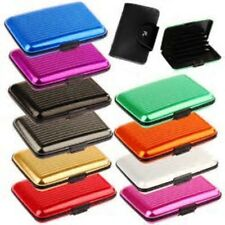 Waterproof ID credit card wallet aluminum metal case box business holder