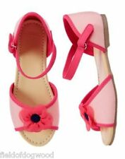 NWT GYMBOREE Pretty Poppy Flower Sandals Dress shoes  SZ 9 10 11 12 13 1 2 3