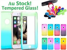 360°Full Body Hard Hybrid Back Protective Case + Tempered Glass For iPhone 5 6 7