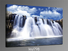 "HD Print on Canvas Painting Home Decoration Wall Art Waterfall scenery ""24x36in"""