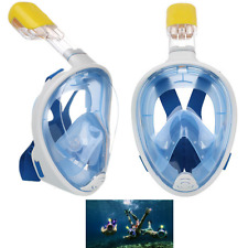 2 Snorkel Mask Set 180° Adults or Kids Full Face Snorkel Mask No Leak Anti-Fog