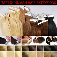 "7A 16""-24"" Best Tape In Skin Wef Remy Virgin Human Hair Extensions US Sale I457"