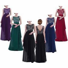 Plus Size Women Formal Wedding Evening Party Cocktail Bridesmaid Ball Gown Dress
