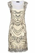 Babeyond Women's Flapper Dresses 1920s Sequined Beaded Great Gatsby Dress