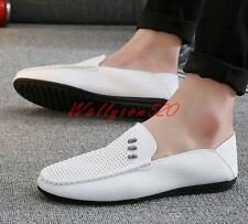 Fashion Mens slip on loafer flat breathable moccasins casual driving shoes new