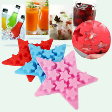 Silicone Ice Cube Tray Chocolate Mold Maker Freeze Mould Five Star Shaped