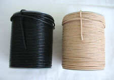 1metre of ROUND LEATHER CORD 3mm