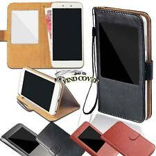 For Various Panasonic Phones - window view Flip Leather Wallet Stand Cover Case