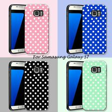 For Samsung Galaxy S7 Simple Polka Dots Shockproof Hybrid TPU/Rubber Back Case