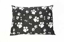 Black Large & X Large Dog Bed With Removable Cover Filled Cushion & PolyPad