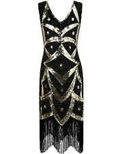 Kayamiya Women's 1920s Great Gatsby Sequined Beaded Inspired Fringed Flapper