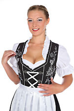 1248 - 3 pc Dirndl Dress Trachten Oktoberfest 4,6,8,10,12,14,16,18,20,22