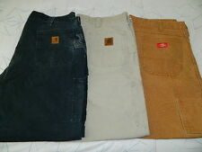 LOT OF 3 CARHARTT B151 DICKIES (40x30)  DUNGAREE  CARPENTER COTTON  PANTS  Mens