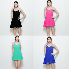 Women's Sexy Strappy Back Zipper Summer Evening Party Cocktail Prom Mini Dress
