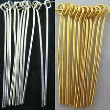 Fashion Silver/Plated Gold Plated Eye Pins Needles Jewelry Findings Wholesale