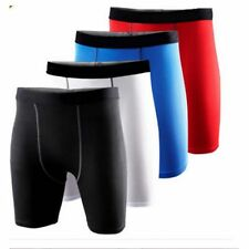 Boys Men Base Layer Body Armour Compression Thermal Under Skins Shorts Gym Pants
