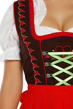 1303 - 3 pc Dirndl Dress Trachten Oktoberfest 4,6,8,10,12,14,16,18,20,22