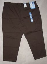 nwt LEE RIDERS Brown Black Beige HEAVY STRETCH COTTON KHAKIS  24WP 22WP Leg27 28