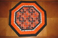 Handmade Quilted Table Topper Octagon OSU Beavers Oregon State University