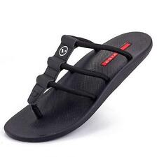 Mens thong flat flip flop slipper strappy summer beach sandals soft shoes Hot #@