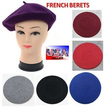 Women's Classic Wool Blend Warm French Artist Beret Beanie Hat Cap – USA SELLER!