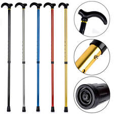Handle Cane Adjustable Retractable Aluminum Stick Hiking Walking Travel