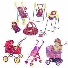 Peppa Pig Dolls Pram Buggy Stroller Play & Go Travel Set Girls Pretend Play Toy