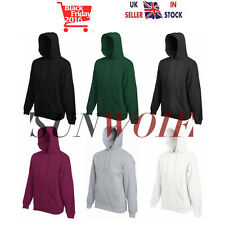 UK New Heavy Blend Plain Hooded SweatShirt Hoodie Sweat Coat Hoody Jumper