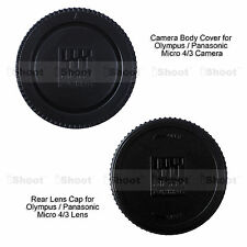 M4/3 Rear Lens Cap +Micro 4/3 Camera Body Cover for Olympus PEN E-P5 E-PL1 E-PL3
