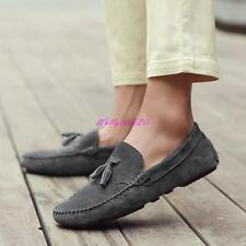 Hot Mens Suede leather driving  Casual Slip on Moccasin Boat Loafer Shoes SZ