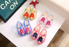 Kids Children Cute Buckle Shoes Forzen Sucker Jelly Shoes PVC Girls Sandal Shoes