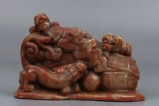 Chinese Exquisite Hand-carved brave troops and 'Ruyi' statue Shoushan Stone seal