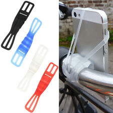 Universal Silicone Elastic Bicycle Motorcycle Bike Mount Holder for Mobile Phone
