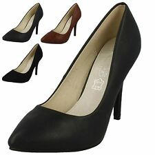 Ladies Spot On Pointed Toe High Heel Court Shoes