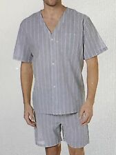 Geoffrey Beene Short Sleeve Knee Length Pajama Cotton/Polyester Size Large