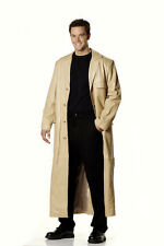 Leather Trench Coat Jacket Soft Lamb Skin for Men
