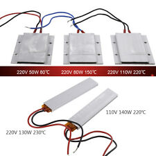 110/220V Aluminum PTC Heating Element Thermostat Heater Plate 50/80/100/130/140W