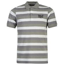 Everlast Mens Stripe Polo Shirt Grey Stripe New With Tags