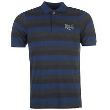 Everlast Mens Stripe Polo Shirt Navy Stripe New With Tags