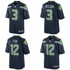 Nike Seattle Seahawks Stitched Limited Football Jersey Russell Wilson Fan 12 NEW