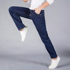 Men's Jeans Relaxed Fit Straight Leg Mens Jeans Black Size 34 36 38 40 42 44