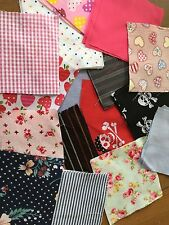 "10 x 4"" Fabric Patchwork Squares Quilting Crafting Cotton Blend Various Colours"