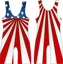 Custom Sublimated Tights Mens womens Wrestling Singlet Weightlifting suit 07