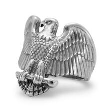 Eagle Ring Mens Sizes 8-14 Antiqued Sterling Silver