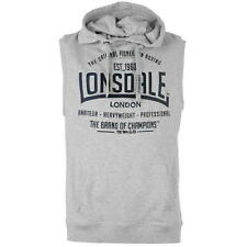 Lonsdale Mens Sleeveless Hoody Grey Marl New With Tags
