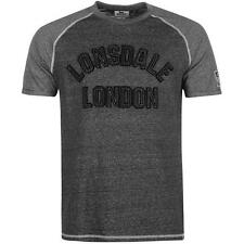 Lonsdale Marl Large Logo T-Shirt Grey New With Tags