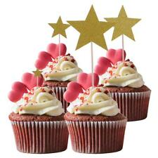 7pcs Glitter Stars Pieces Cupcake Food Picks Cake Toppers Party Decoration