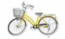 Yellow Bicycle Car Vinyl Sticker - SELECT SIZE