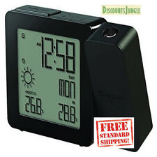 Oregon Scientific Projection Alarm Clock With Indoor/Outdoor Temperature New